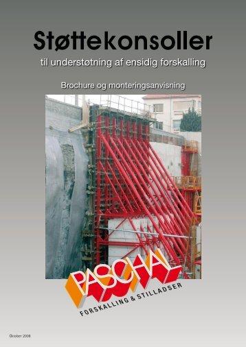 Støttekonsoller brochure og montageanvisning - PASCHAL ...