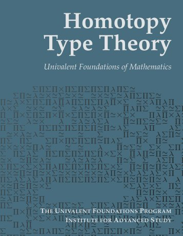 Homotopy Type Theory: Univalent Foundations of Mathematics - Synrc