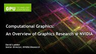 Computational Graphics: An Overview of Graphics Research at ...