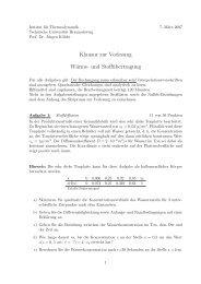 Wärme- und Stoffübertragung WS 2006/07 - am Institut für ...