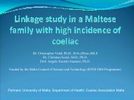 Linkage study in a Maltese family with high incidence of coeliac