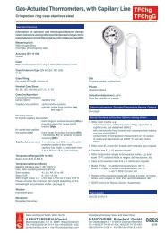 8222 - Pressure gauges and thermometers
