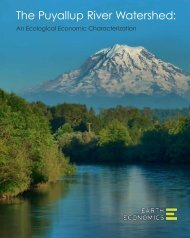 The Puyallup River Watershed: An Ecological - Earth Economics