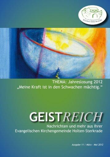 GeistReich 2/2012 - Evangelische Kirchengemeinde