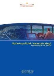 Søfartspolitisk vækststrategi, 2003 - Søfartsstyrelsen