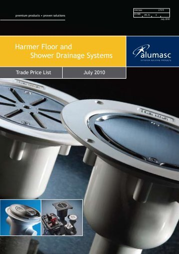 Harmer Floor and Shower Drainage Systems