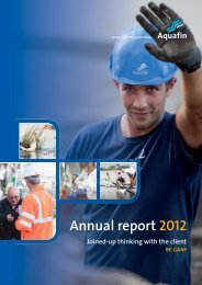 Annual report 2012 - Aquafin