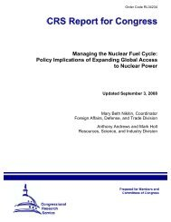 Managing the Nuclear Fuel Cycle: Policy Implications ... - Nuclear Files