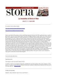Leggi la newsletter di Storia in Rete n° 4 2009
