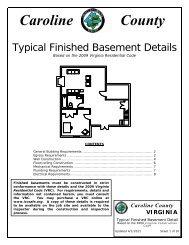 Typical Finished Basement Details - Caroline County!