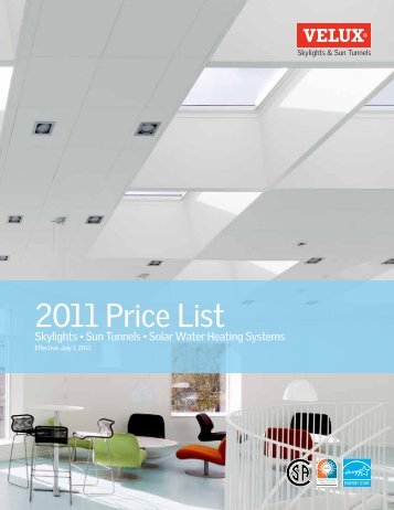 2011 skylight pricing - Velux