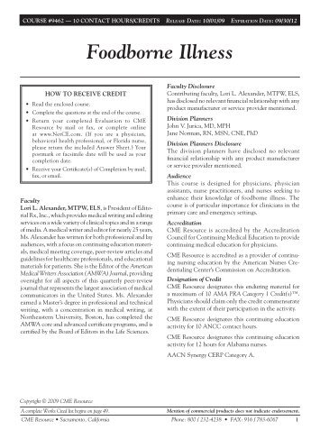 Foodborne Illness - NetCEGroups