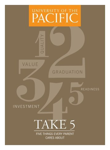 Take 5 - Five things every parent cares about - University of the Pacific