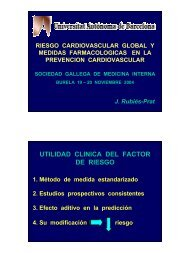 Riesgo cardiovascular global y medidas farmacológicas en la ...