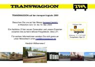 TRANSWAGGON auf der transport logistic 2009 Besuchen Sie uns ...