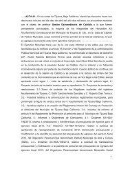 1 - - - ACTA 61.- En la ciudad de Tijuana, Baja California, siendo las ...