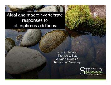 Algal and macroinvertebrate Algal and ... - N-STEPS.com