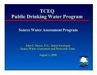 TCEQ Public Drinking Water Program