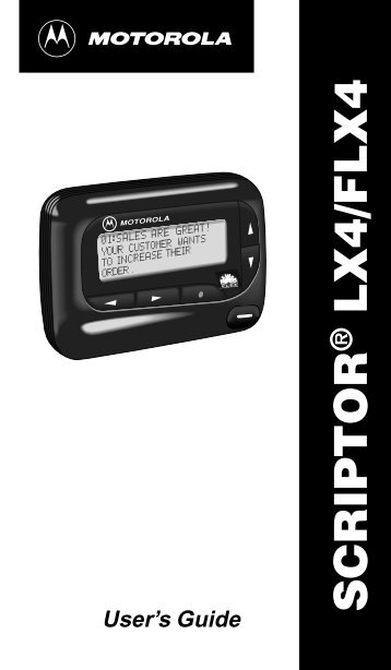 SCRIPTOR LX4/FLX4 - Telekomunikacije