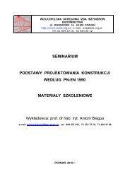 podstawy projektowania konstrukcji według pn-en 1990. - WOIIB