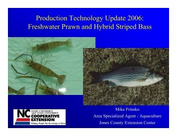 Production Technology Update 2006 - NCAquaculture.org