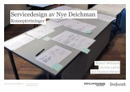 Servicedesign av Nye Deichman - Deichmanske bibliotek
