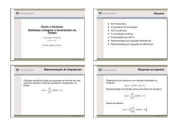 Sistemas Lineares e Invariantes no Tempo