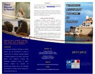 teach english in france! - Department of Languages, Literatures, and ...