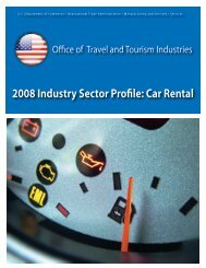 2008 Industry Sector Profile - Office of Travel and Tourism Industries