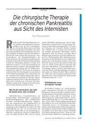 Die chirurgische Therapie der chronischen Pankreatitis aus Sicht ...