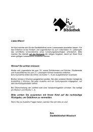 Leseausweis für Kinder, Antrag