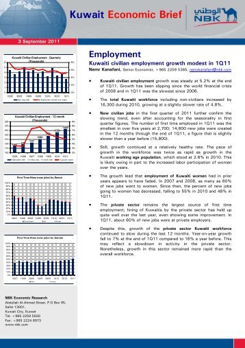 Kuwait Economic Brief - National Bank of Kuwait