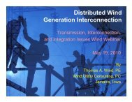 Distributed Wind Generation Interconnection - Utility Variable ...