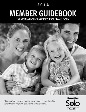 Member Guidebook - For ConnectiCare SOLO Individual Health Plans
