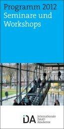 Jahresbroschüre 2012 - Internationale DAAD-Akademie (IDA)