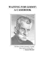 WAITING FOR GODOT: A CASEBOOK - National Philistine