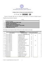 Verbale Consiglio 09-2009 - Dipartimento di Studi classici e cristiani