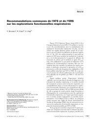 Recommandations communes de l'ATS et de l'ERS sur les ... - SPLF