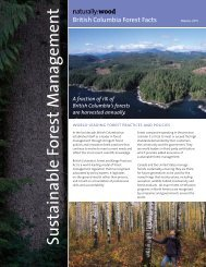 British Columbia's Sustainable Forest Management ... - Naturally:wood