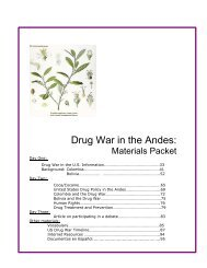 Drug War in the Andes: - Latin American Studies Program