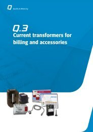 Metartec e3's Current Transformers for Billing and Accessories
