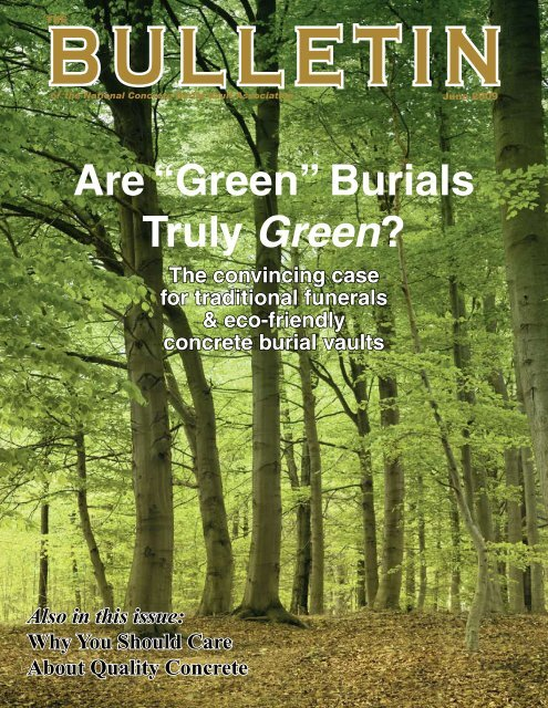 "Are ""Green†- National Concrete Burial Vault Association"
