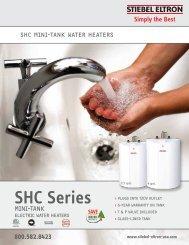 SHC Mini-tank Electric Water Heater Brochure - Stiebel Eltron