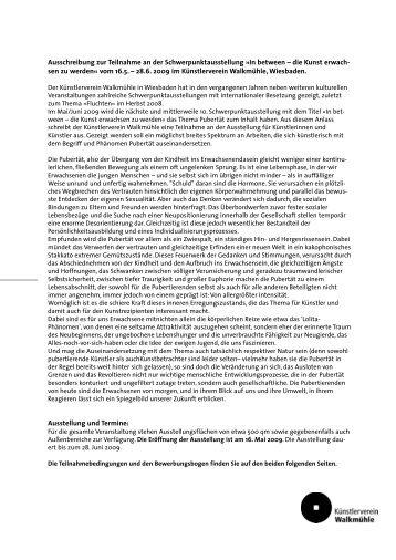 als PDF-Datei ca. 110 KB - künstlerverein walkmühle wiesbaden