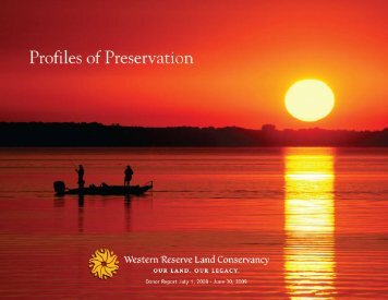 2009 Donor Report - Western Reserve Land Conservancy