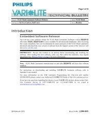 Tech Bulletin LSW-065 (Software Update) - Vari-Lite