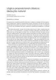 Lógica proposicional clássica: dedução natural - Desidério Murcho