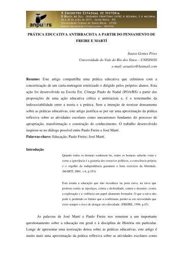 Itaara Gomes Pires - X Encontro Estadual de História – ANPUH-RS