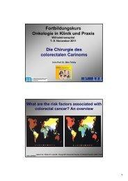 Fortbildungskurs Onkologie in Klinik und Praxis Die Chirurgie des ...