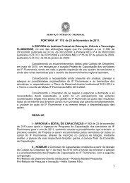 PORTARIA 778 CAPACITACAO 2011 - Instituto Federal Fluminense